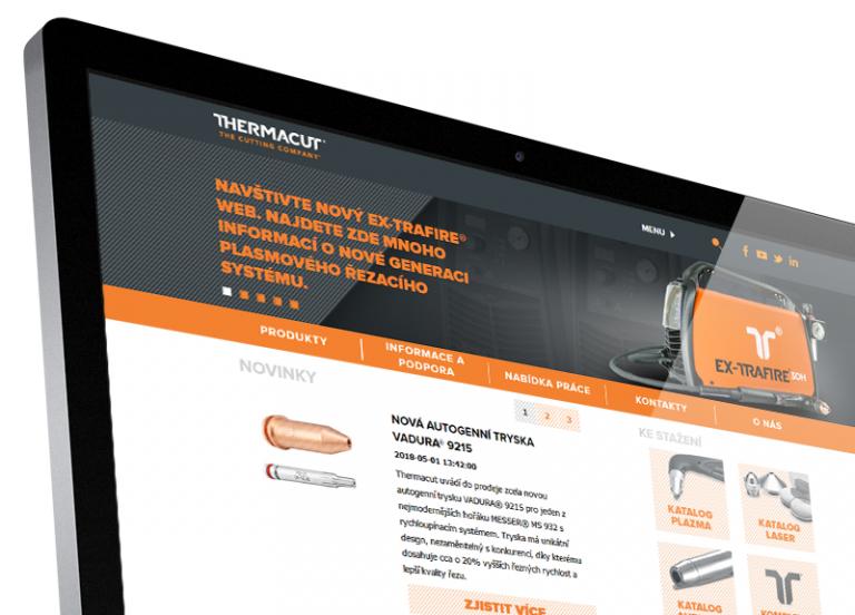 Webová prezentace napříč světem – Thermacut®
